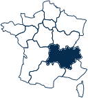 Carte France AUVERGNE-RHONE-ALPES