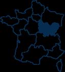 Carte France BOURGOGNE-FRANCHE-COMTE