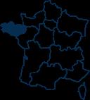 Carte France BRETAGNE