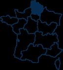 Carte France HAUTS-DE-FRANCE