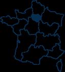 Carte France ILE-DE-FRANCE