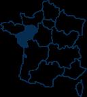 Carte France PAYS-DE-LA-LOIRE
