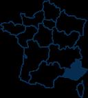 Carte France PROVENCE-ALPES-COTE-D-AZUR